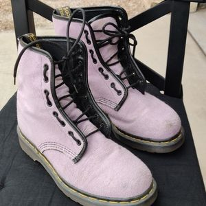 Lavender Terrycloth Original Doc Marten boots